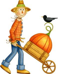 Scarecrow Wheelbarrow