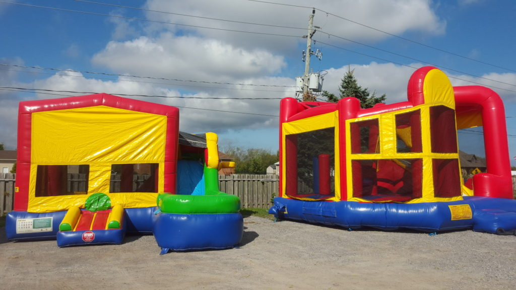 On the left we have the 6-in-1 Themed Bouncer and on the Right the 5-in-1 Themed Bouncer.
