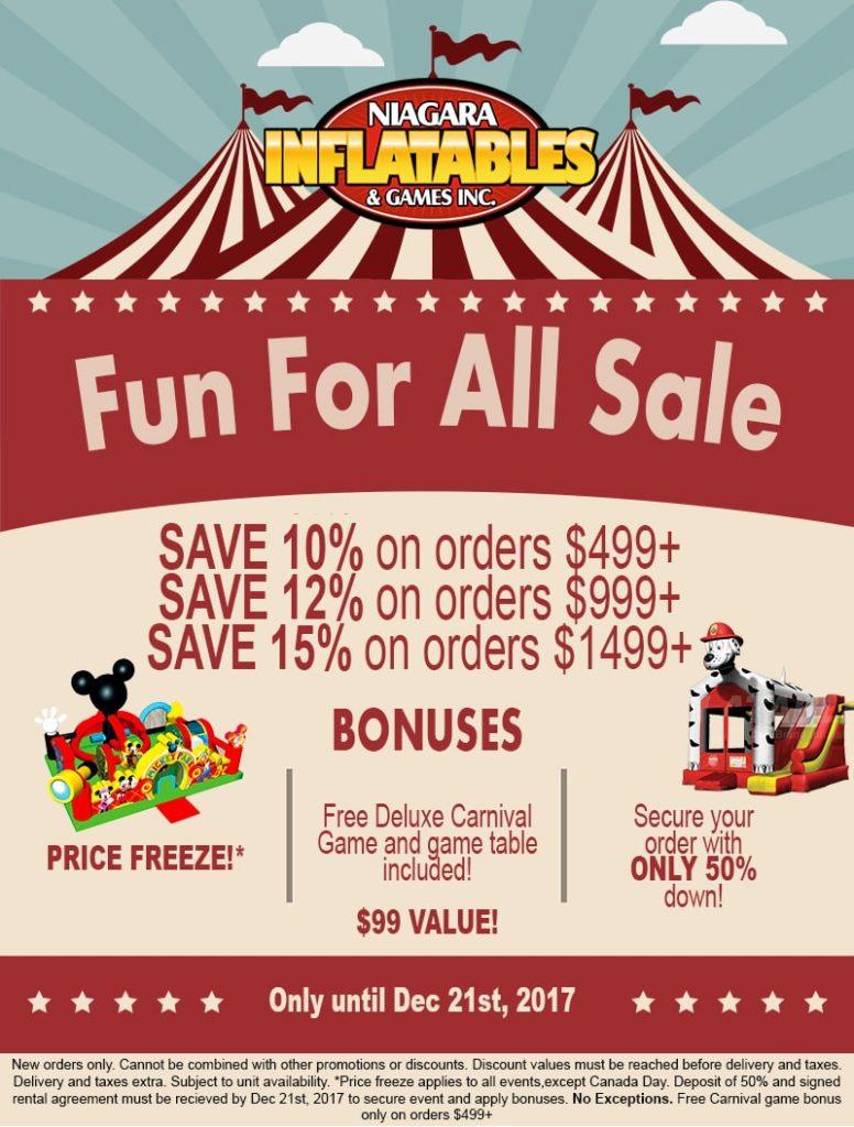 bouncy castle sale