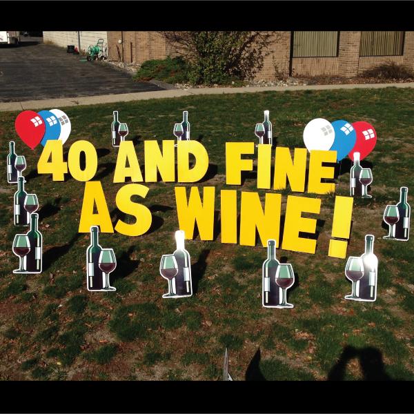 Wine Glasses Yard Card Greeting